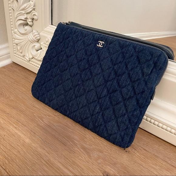 Chanel Denim Clutch/Cosmetic Handbag Purse